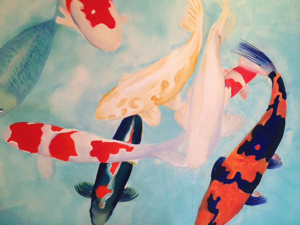 Detail from Big Koi Painting