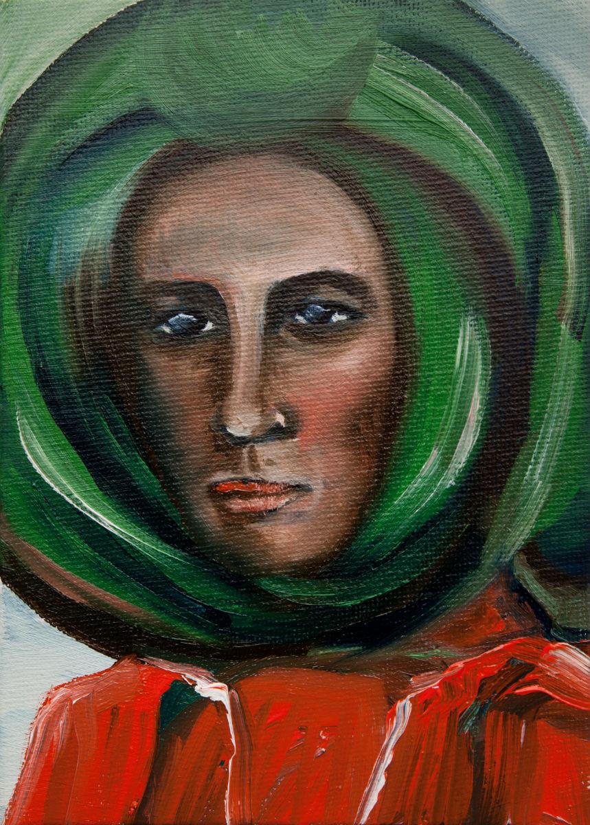 Mann mit grünem Turban