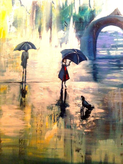 Mädchen mit Regenschirm
