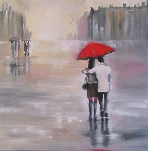 Das Paar im Regen