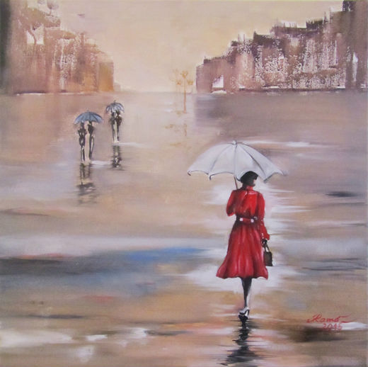 Die Frau mit dem roten Mantel