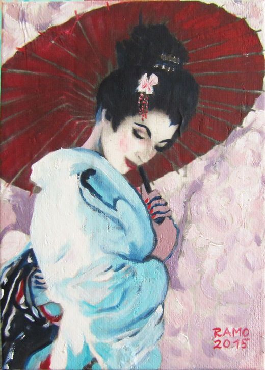 Geisha in White