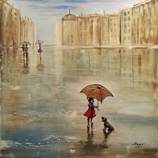 Mädchen mit dem goldenen Schirm