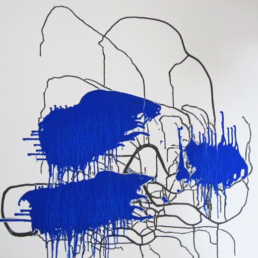 Abstract Lapis Lazuli - Little Girl in the City of Rats