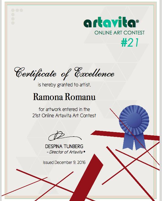 Certificate of Excellence-Ramona Romanu