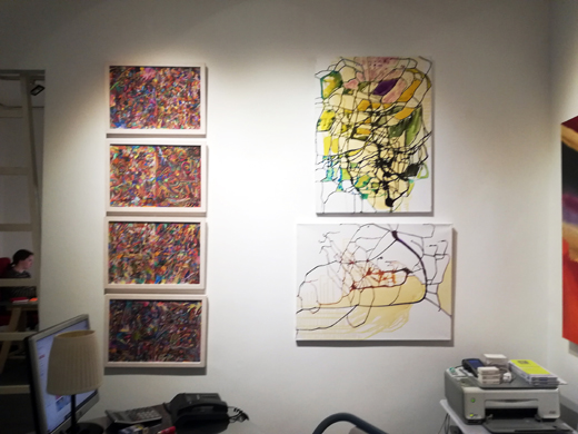 """The works from Ramona Romanu are from the series """"New Modern Abstracts"""""""