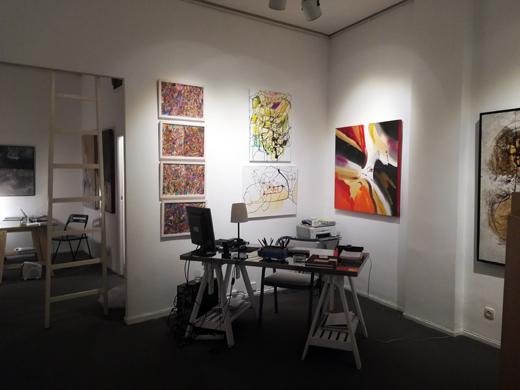 Two of Ramona Romanu's artworks at the Galeria Gaudi Madrid February 2018
