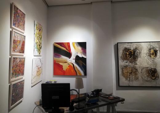 Ramona Romanu at the Galeria Gaudi Madrid February 2018
