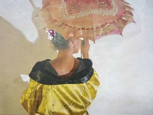 Geisha with Yellow Kimono